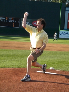 Tom Raffio tossing out the 'First Pitch' on September 1, 2009