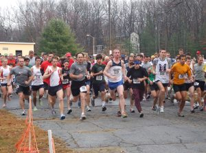 Start of the 2009 Thanksgiving Day race - Galloping Gobler - Tom is #49