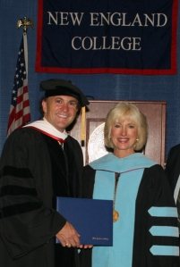 Tom recieving his diploma