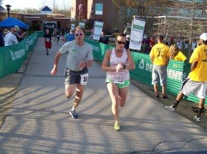 Tom running in the NHTI/Northeast Delta Dental 5K Road Race