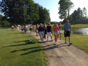 Starting Off Golf Walk